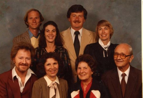 Row 1_ Dan, Peg, Audrey, Dale - Row 2_Steve, Nancy, Tom, Fred