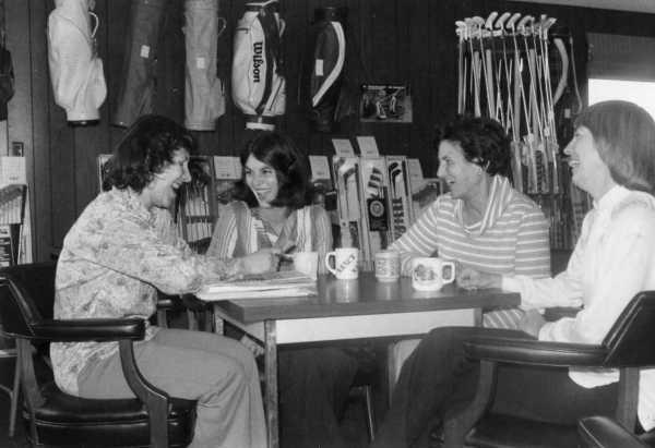 8 am coffe break, Peg, Nancy, Audrey, Fred
