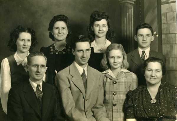 front row - Eugene, Wendell, Mary Alice, and Mary back row -